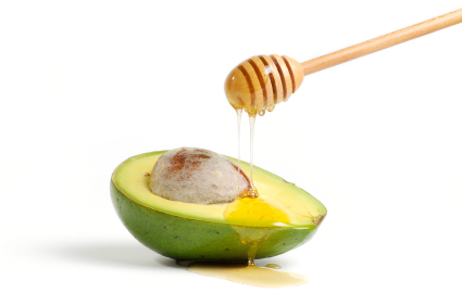 Avocado & Honey as a natural home treatment for acne.