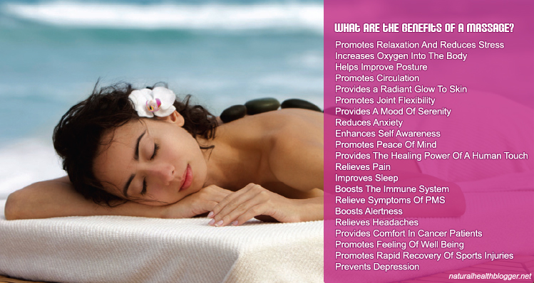 Some of the many health benefits of having a massage!