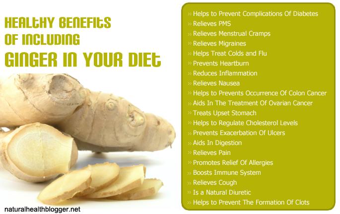 Health benefits of ginger