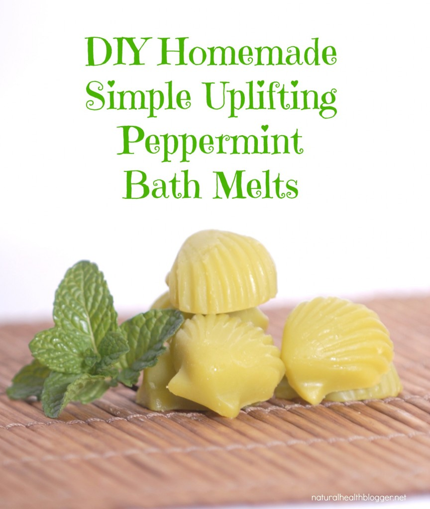 DIY Homemade Simple Uplifting Peppermint Bath Melts 1