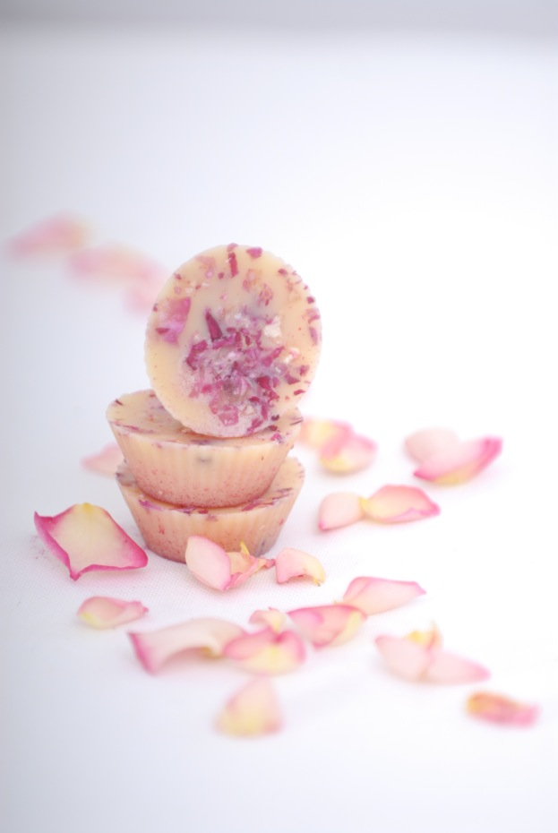 diy homemade bath melts - rose