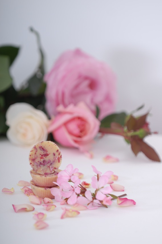 pretty rose bath melts - DIY