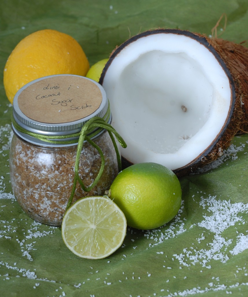 Natural DIY Lime & Coconut Sugar Scrub
