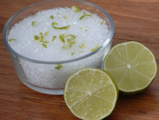 DIY Lime & Coconut Epson Bath Soak