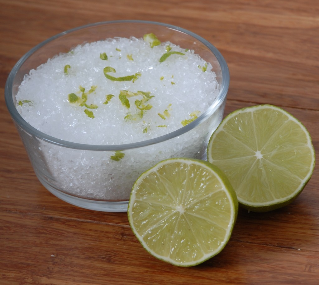 homemade Lime & Coconut Epson Bath Soak