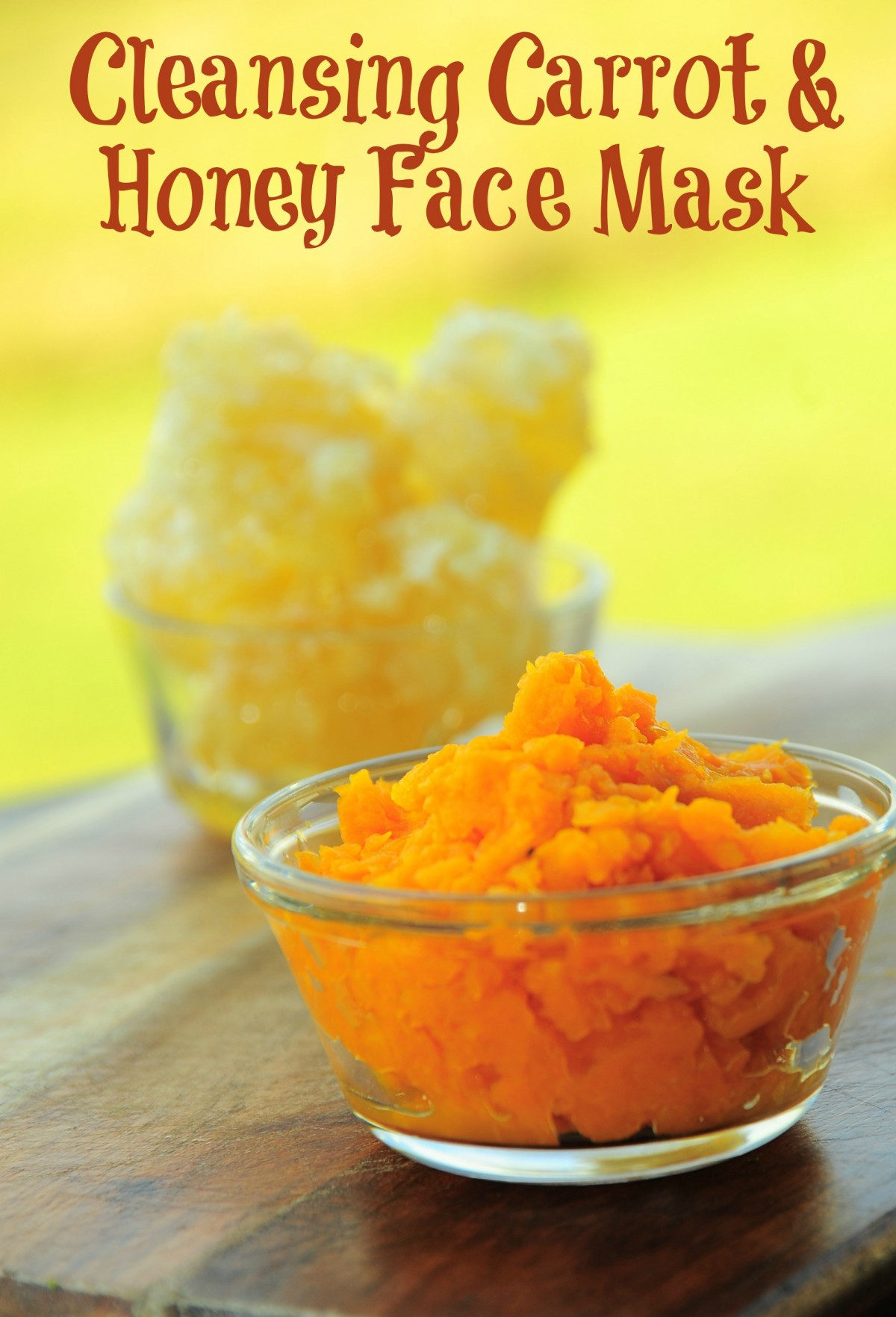 carrot honey facemask