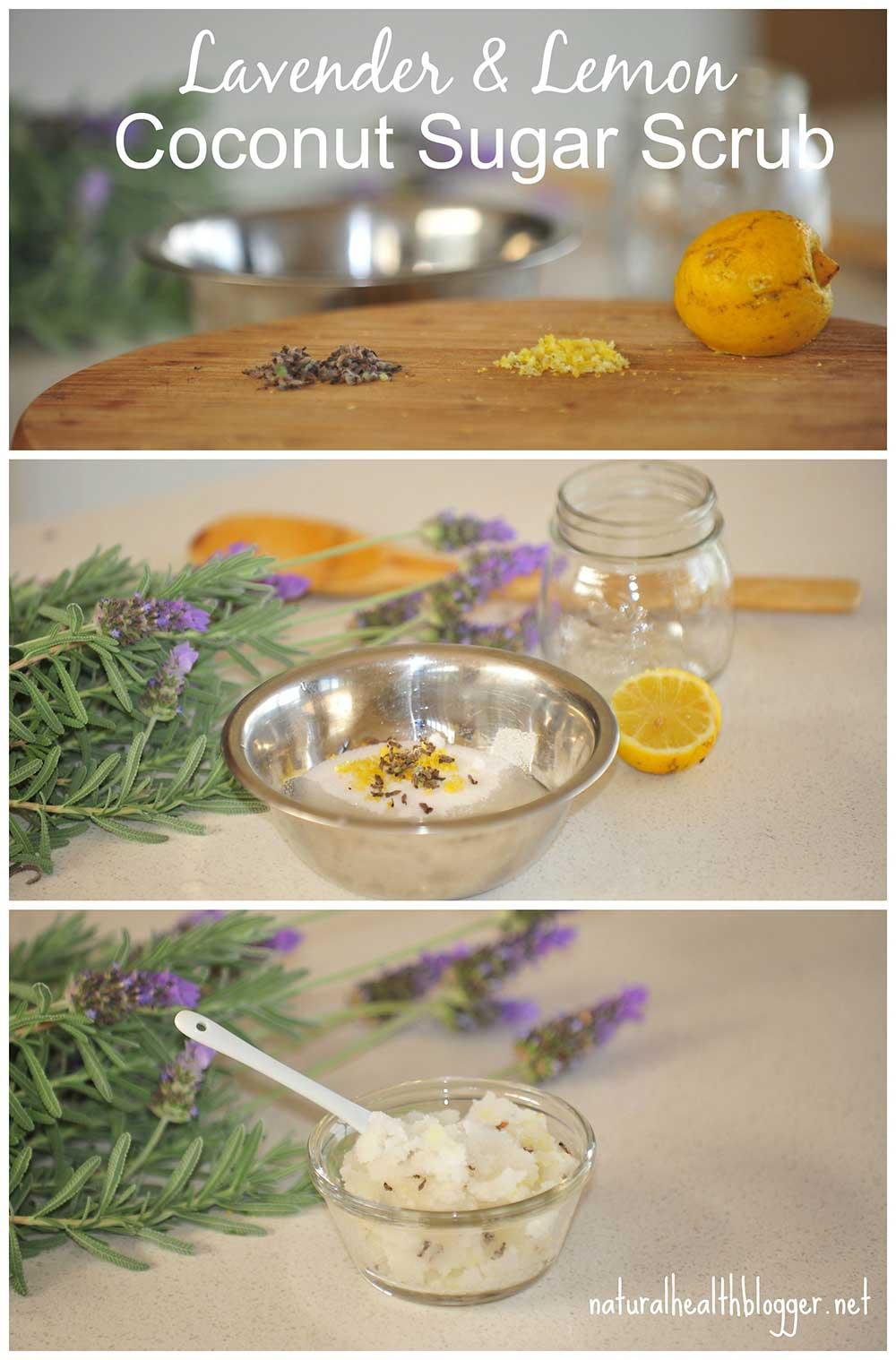 Lavender Lemon Sugar Coconut Scrub Handmade